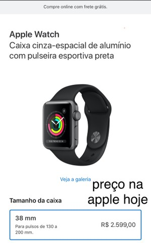 Apple Watch Series 3 38mm Lacrado na Caixa - Foto 5