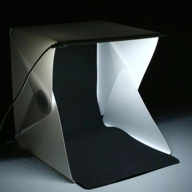 Mini Estúdio  Portátil <br>Com Luz de Led - Foto 5