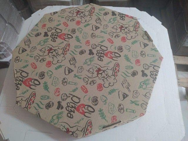 Caixa Oitavada de Pizza N 35 * Preço imbatível * - Foto 5