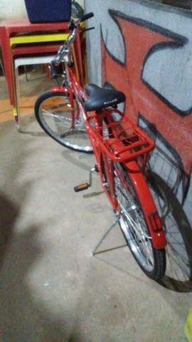bicicleta nova nunca usada com garupa - Foto 3