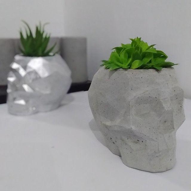 Caveiras geométricas de cimento - Foto 2