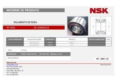 Rolamento ZA-43BWD14