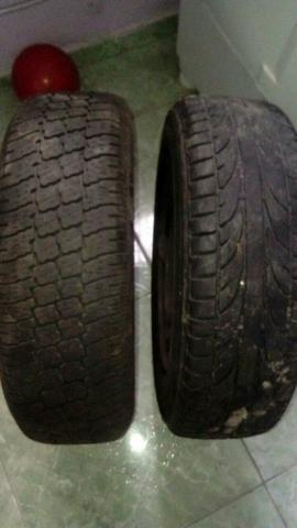 Par de pneus 13 com aros de ferro f:986075597