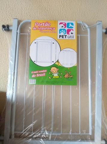 Portão Grade Proteção Pet Útil Branco 69 + 10 cm de extensor p/ Criança e Cães. Valor 120 - Foto 3