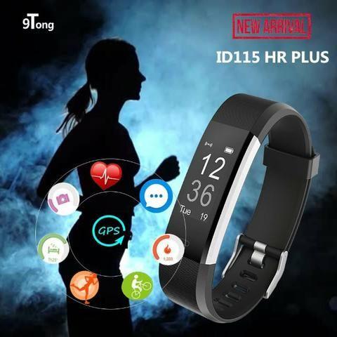 63fa3a9432260 Relógio inteligente unissex Id-115 Plus Band 3 Em Português, pulseira , medidor pressão