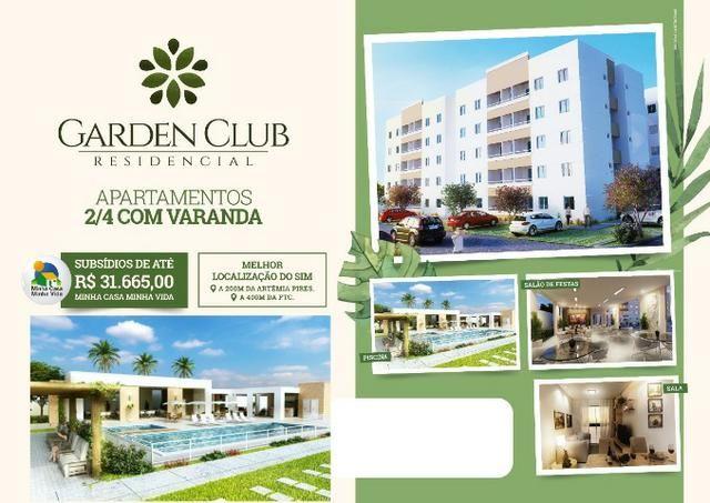 Garden Club >> dois quartos com Varanda Pertinho da FTC