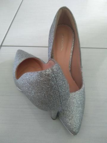 40be9e7bd Sapato salto alto 10cm prata / noiva - Roupas e calçados - Munhoz Jr ...