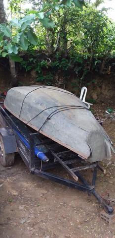 Vendo canoa de fibra - Foto 3