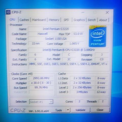 Intel Pentium G3220 Funcionando!
