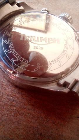 Relógio Triumph Motorcycles Original Inox - Movimento Suíço - Na Caixa! - Foto 2