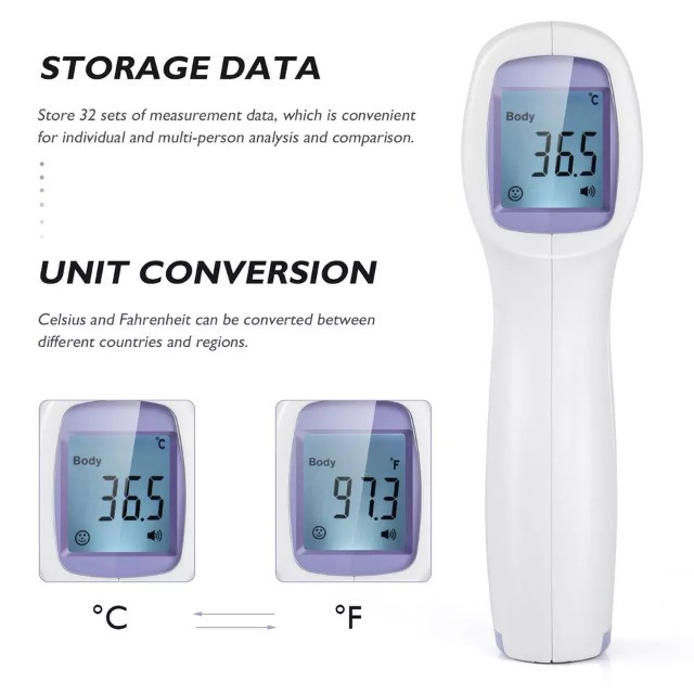 Termômetro infravermelho corporal