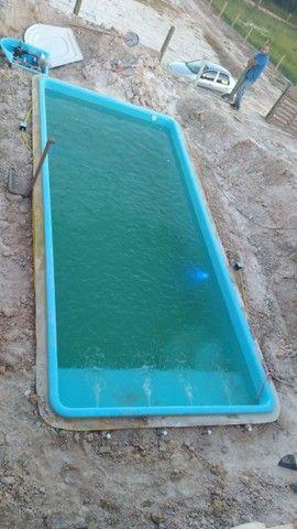 piscina de fibra instalada {{6.20 x 3.00}}