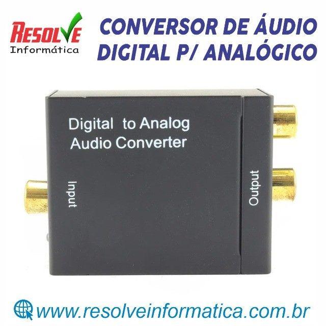 Conversor de Áudio Digital p/ Analógico- NOVO - Foto 3