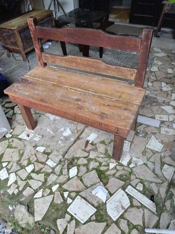 Banco de Jardim em madeira massissa demolição 250 00 - Foto 2