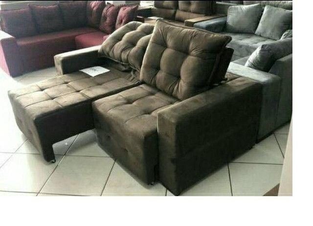 Retrátil e reclinável modelo Débora com assentos de mola // pronta entrega - Foto 2