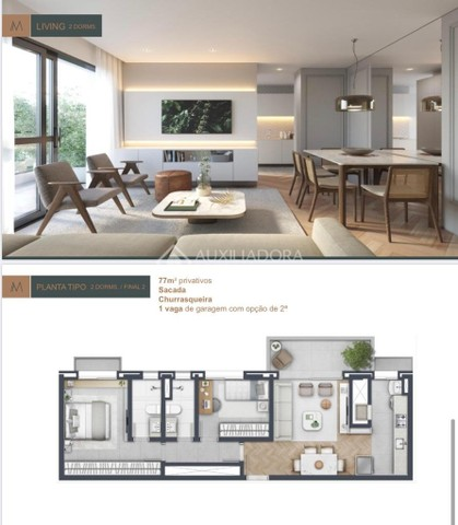 Apartamento à venda com 2 dormitórios em Moinhos de vento, Porto alegre cod:315424 - Foto 2