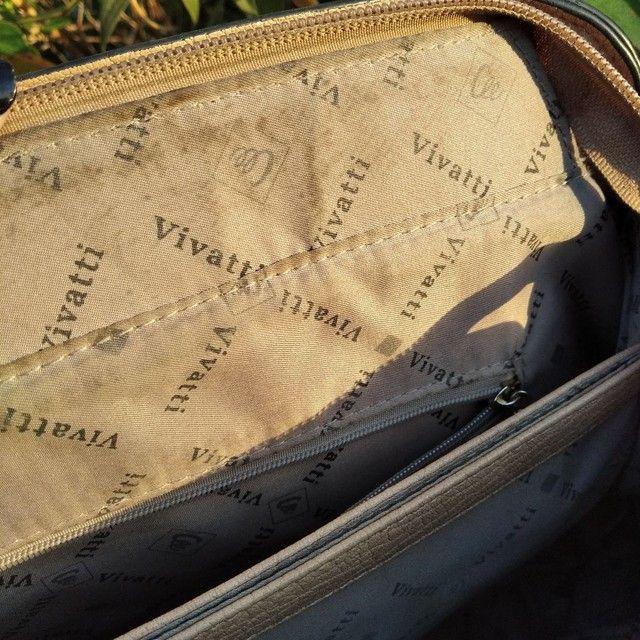Bolsa feminina de mão linda bege Vivatti couro  - Foto 4