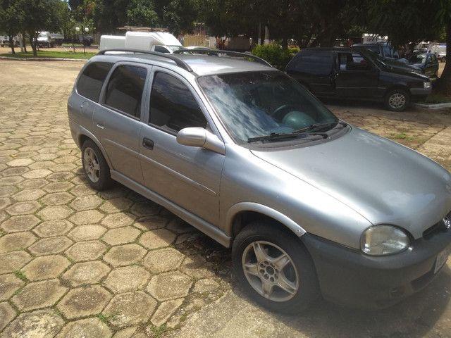 Vendo ou troco Corsa wagon completo 1.6 1998 - Foto 2
