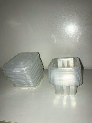 Pote de plástico recipiente