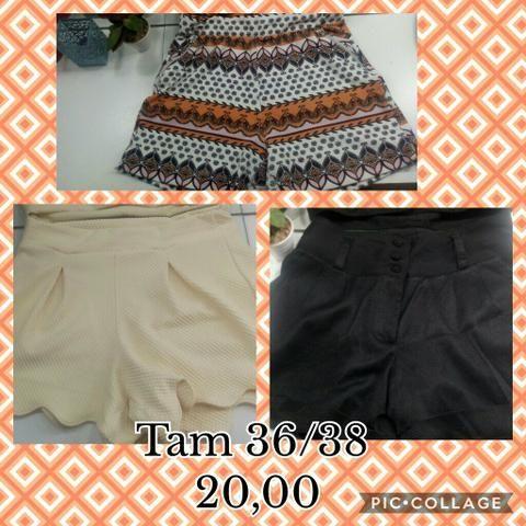 Shorts semi novos 20,00 cada ou 3 por 50