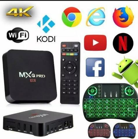 "Tv Box Kit+Teclado Android""(8.1),16Gigas+3Gigas RAM,Loja Cachoeirinha! - Foto 2"