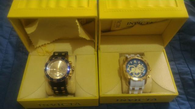 acf625858c1 600 reais cada um.Vende-se 02 relógio invicta original super novos ...