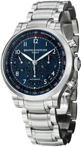 b8b5d1c3588 Relógio Baume   Mercier Blue Dial Chronograph Capeland - Bijouterias ...