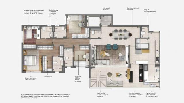 Apartamentos de 186 m² com 3 ou 4 suítes - ótima localização no campo Belo - SP - Foto 16