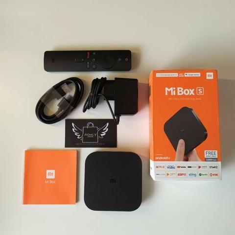 Mi Box S Xiaomi 4K - Chromecast Integrado + Google Assistente