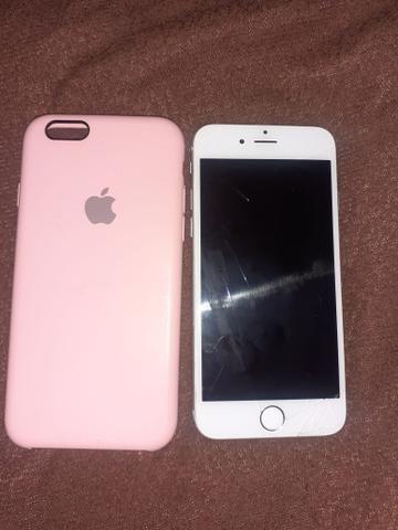 Vende se iPhone 6 64 gigas com documentos aceito troca pelo A10 com volta pra mim - Foto 2
