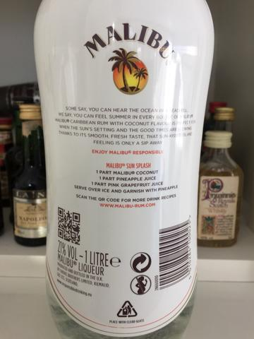 Licor Malibu original importado 1 litro - Foto 2