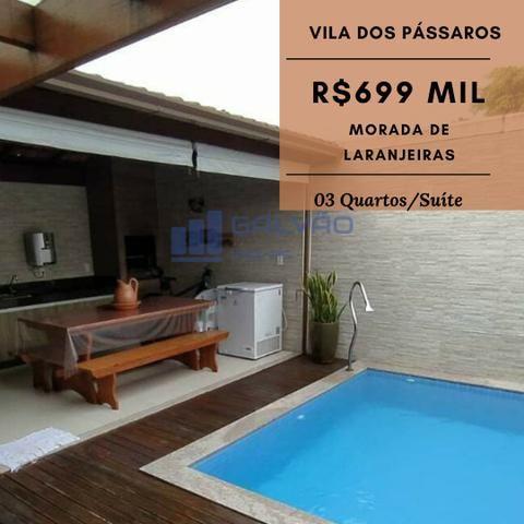 JG. Casa duplex de 3 quartos/suíte no condomínio Vila dos Pássaros, Morada de Laranjeiras