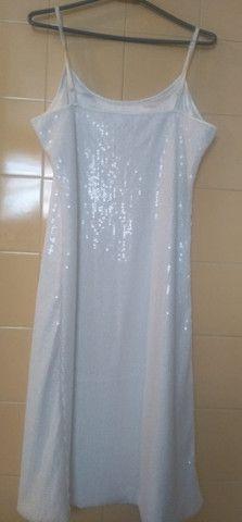 Vestido Paetê Branco(M) - Foto 3