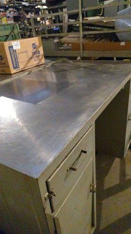 Balcão /escrivaninha de serviço /industrial  / mecânica/chapa de aço - Foto 3