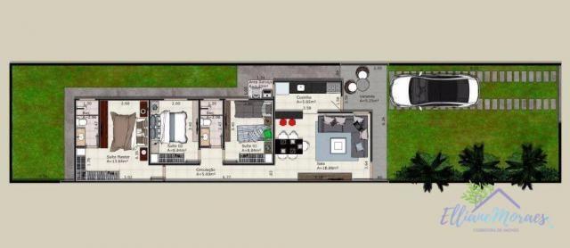 Casa com 3 dormitórios à venda, 85 m² por R$ 249.000,00 - Encantada - Eusébio/CE - Foto 16