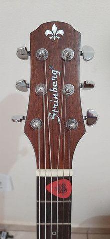 Violão Folk Strinberg Black Series Guitars - Foto 3