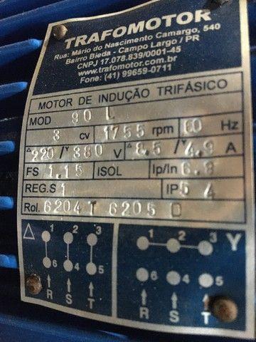 Motor elétrico 3 cv trifásico 1755 rpm - Foto 2