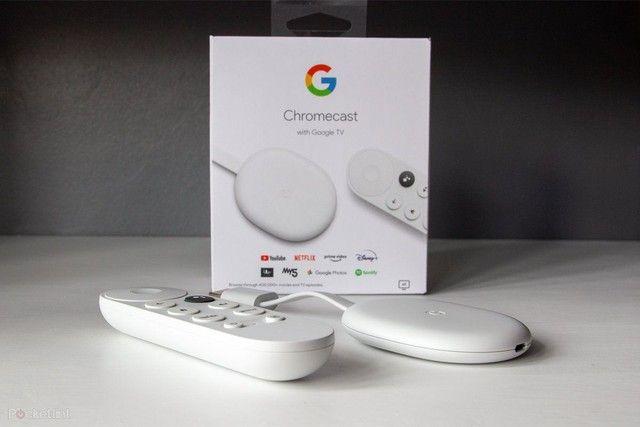 Google Chromecast com Google TV - Streaming Media Player em 4K HDR - Neve - Novo - Foto 6