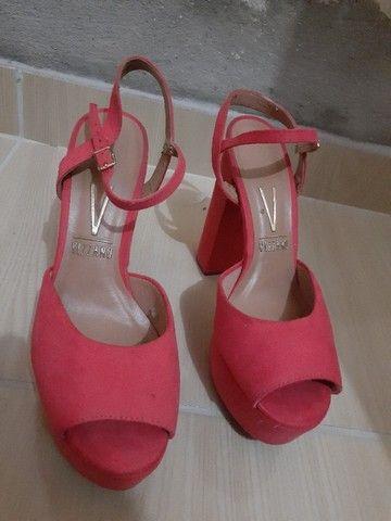 Sandália de salto rosa seco tam 36  - Foto 2