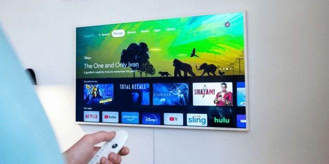 Google Chromecast com Google TV - Streaming Media Player em 4K HDR - Neve - Novo - Foto 4