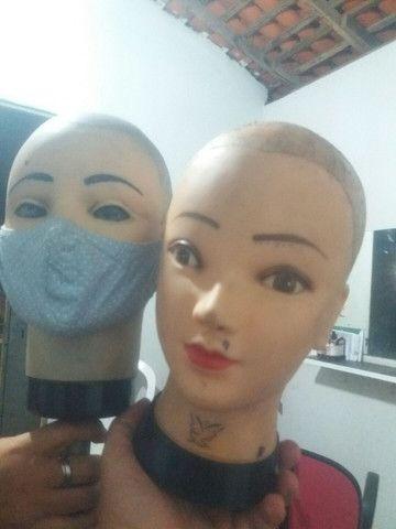 Compro cabeça de silicone