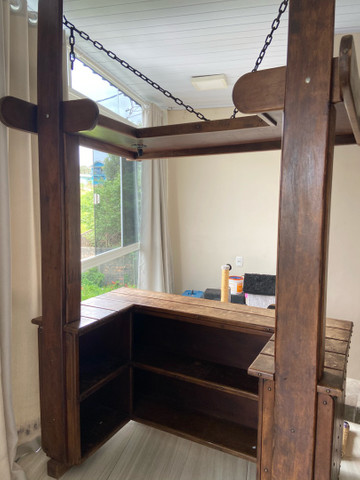 Bar de madeira com luz - Foto 3