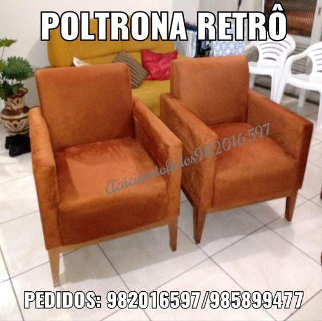 Lindas poltronas retrô NOVO - Foto 2
