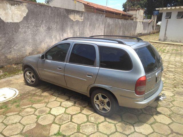 Vendo ou troco Corsa wagon completo 1.6 1998 - Foto 6