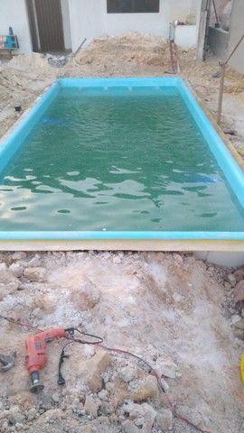 piscina de fibra instalada {{6.20 x 3.00}} - Foto 2