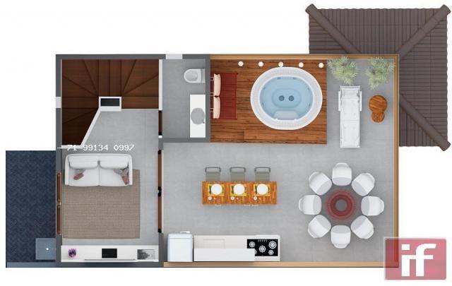 Casa de condomínio à venda com 3 dormitórios em Imbassaí, Mata de são joão cod:371 - Foto 12