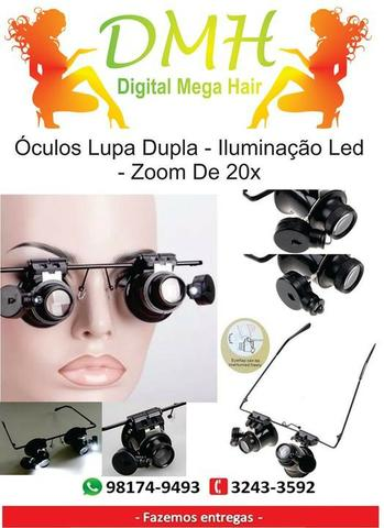 Óculos Lupa De Cabeça Profissional 2 Leds produto de excelente qualidade 6bce5e19ec