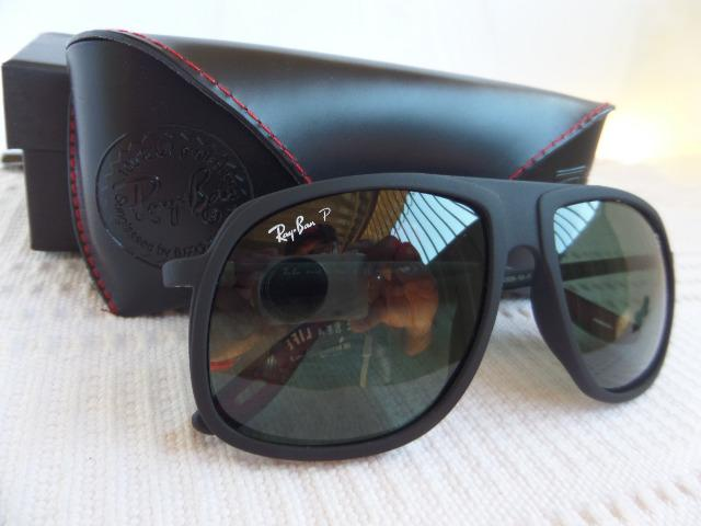 c0025a0c7a63f Óculos Ray-Ban Rb4308m Preto Fosco Scuderia Ferrari Collection - Importado  e Novo