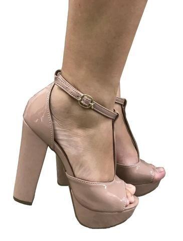 5bdc37013 Sapatos Femininos Salto Alto Meia Pata Festas - Roupas e calçados ...