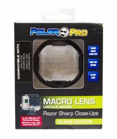 Lente PolarPro Macro Para Caixa Padrão De Câmera GoPro Hero 3 e 4